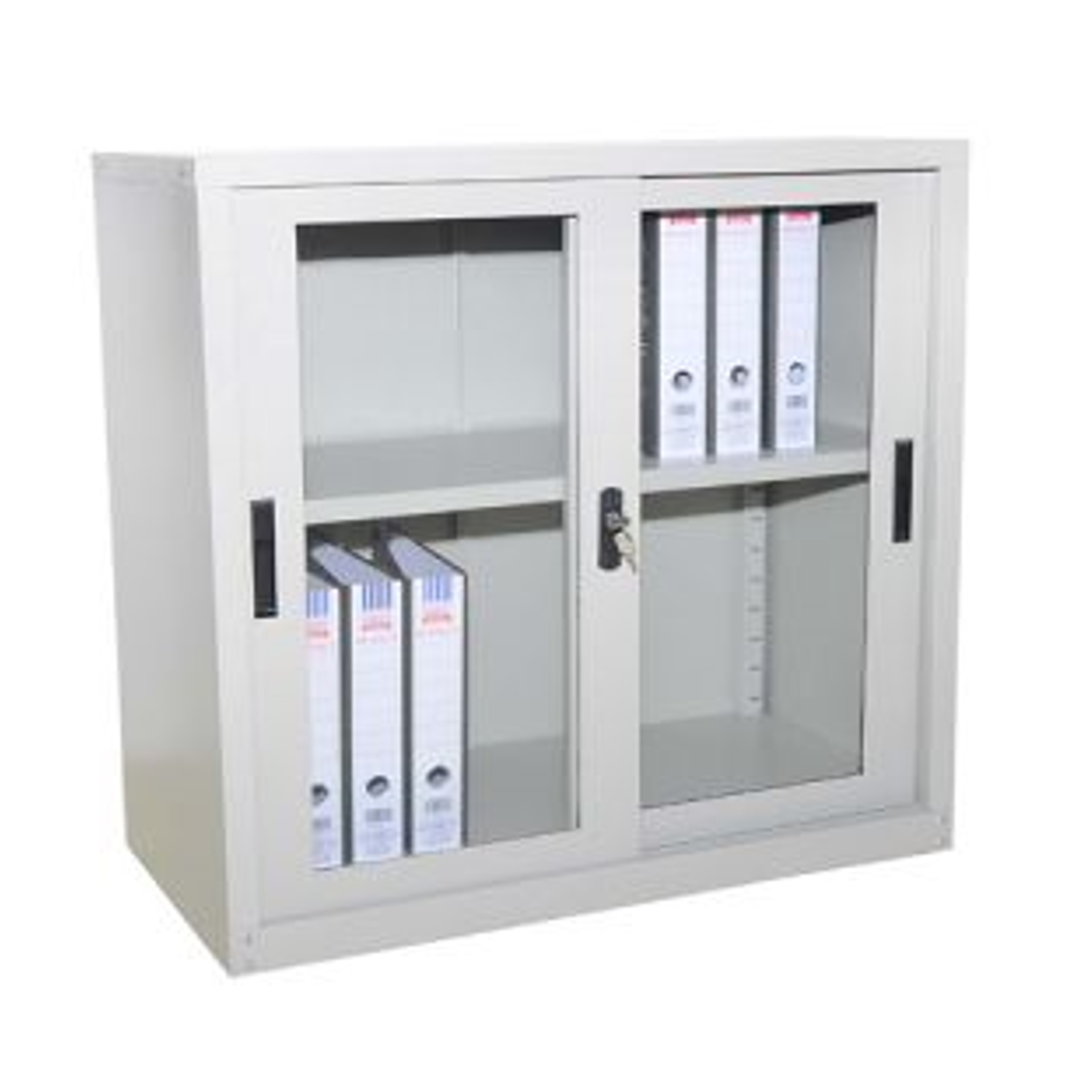 Half Height Steel Cabinet Glass Sliding Door Gaviton
