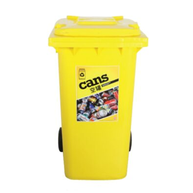 cans plastic recycling bin